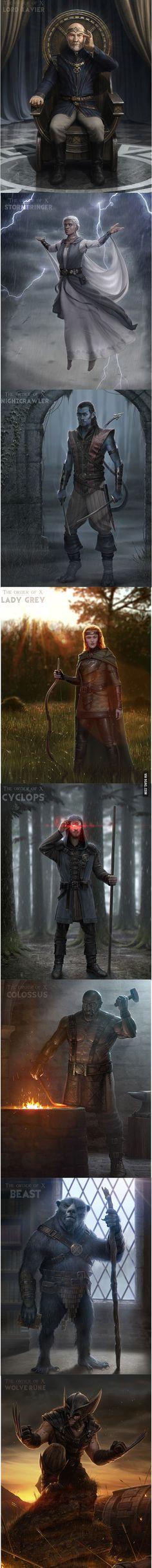 X-Men como personajes medievales