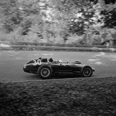 Peter Collins in his Lancia-Ferrari 801 during the 1957 Italian Grand Prix at Monza