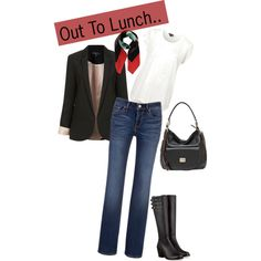 """Out To Lunch"" by peonyandmoore on Polyvore with our Georgia hobo handbag in black"