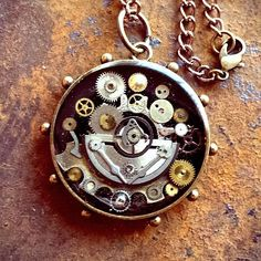 The Steampunk Medallion by ColdGarageCreations on Etsy