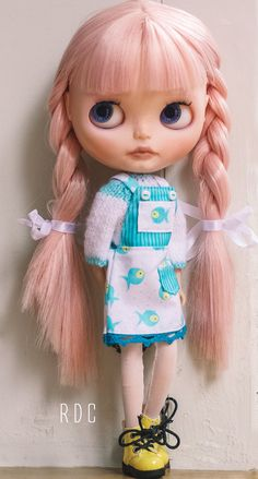 Bib Overall Dress and Sweater for Blythe doll by roperoconmishi