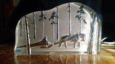 Häst med släde Nybro kristall