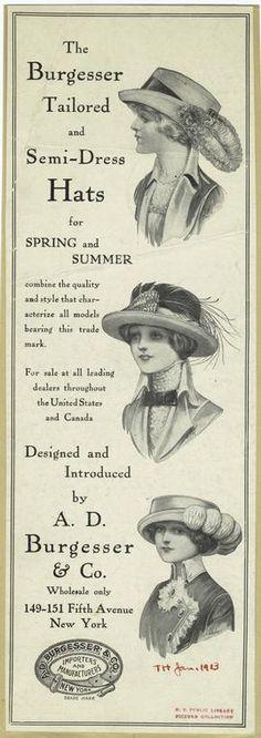 Sombreros de Verano 1913