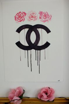 Chanel Rose A3 giclée print by mbaileyillustrations on Etsy, $25.00