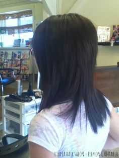 haircut with lots of layering & rich, dark colour - utopia hair salon/belmont ontario https://www.facebook.com/pages/Hair-by-Annie-Braun-Utopia/116968085010811?hc_location=stream