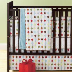 On the Dot Crib Bedding Set  | The Land of Nod