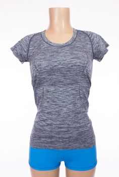 LULULEMON Run Swiftly Tech Short Sleeve Scoop 6 S Heathered Cadet Blue Top #Lululemon #ShirtsTops