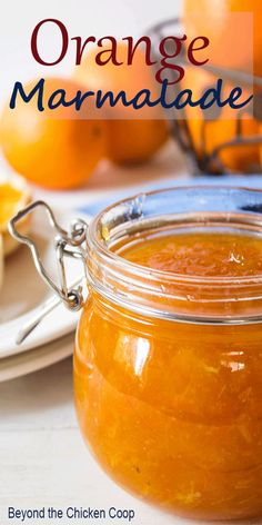 Homemade Orange Marmalade made with just two ingredients - fresh oranges and sugar. This delicious jam is perfect spread on toast on used in savory recipes. Jelly Recipes, Jam Recipes, Canning Recipes, Fruit Recipes, Brunch Recipes, Copycat Recipes, Breakfast Recipes, Orange Marmalade Recipe, Marmalade Jam