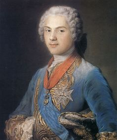 Louis, Dauphin of France by Maurice Quentin de La Tour, 1745. (4 September 1729 – 20 December 1765) was the only surviving son of King Louis XV of France and his wife, Queen Marie Leszczyńska. Son of the king, Louis was styled Fils de France. As heir apparent, he became Dauphin of France. However, he died before ascending to the throne. Three of his sons became kings of France: Louis XVI, Louis XVIII and Charles X.