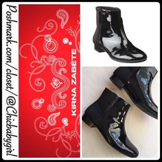 """#JUST-IN ✨ [KIRNA ZABETE] SLEEK PATENT BOOT Size--7 With Tags $148 Retail + Tax   Take your look to a whole new level of sleek!   *Patent man-made upper/contrasting back panel  *Fabric lining *Lightly cushioned footbed *Stacked heel 1"""" *Circumference 11.5"""" *Shaft 5.75"""" *Runs True To Size   2+ BUNDLE=SAVE  ‼️NO TRADES--NO HOLDS--NO MODELING   Brand Name Items Authentic   ✈️ Ship Same Day--Purchase By 2PM PST    USE BLUE OFFER BUTTON TO NEGOTIATE   ✔️ Ask Questions Not Answered In…"""