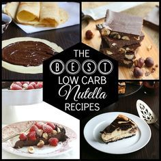 Best low carb Nutella recipes - make yourself a big batch of low carb hazelnut spread and then make some of these wonderful recipes!