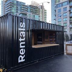 Shipping containers 698972804644847451 - Shipping container buildings, restaurants, homes, houses, schools. Shipping Container Restaurant, Shipping Container Buildings, Shipping Container Design, Shipping Containers, Container Coffee Shop, Container Van, Container Houses, Container Architecture, Sustainable Architecture