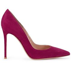 Womens High-Heel Pumps Gianvito Rossi Gianvito Fuchsia Suede Pumps (9 135 UAH) ❤ liked on Polyvore featuring shoes, pumps, heels, обувь, suede pointed toe pumps, suede pointy toe pumps, high heeled footwear, high heel court shoes and fuschia suede pumps