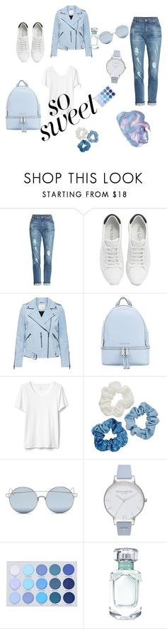 """""""so sweet"""" by lovefahion98 ❤ liked on Polyvore featuring KUT from the Kloth, Prada, MICHAEL Michael Kors, Mudd, For Art's Sake and Olivia Burton"""