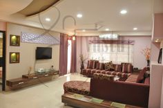 Indian Drawing Room designed by #ShriVastuKrit for a big joint family. #VastuConsultant #InteriorDesigner #Indore #Furniture