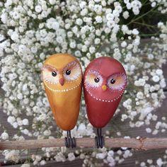 ... bientôt en boutique #chouette #deco #couple #amoureux #lovelovelove #fimo #fleurs #cadeaudemariage #handmade
