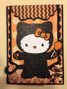 Hello Kitty Halloween card. Hello Kitty Greetings cartridge.
