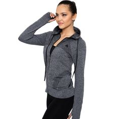 Women's sport quick dry long sleeved running gym sweatshirt cloth zipper outerwear jacket  Price: 43.95 & FREE Shipping  #hashtag3