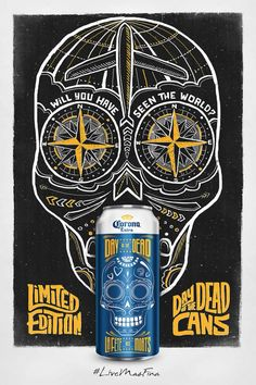 New Corona day of the dead cans #corona #beerbranding #dayofthedead