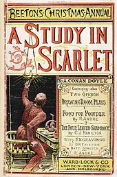 Dec Sherlock Holmes makes his debut in 'A Study in Scarlet.'The first story to feature the fictional character Sherlock Holmes, 'A Study in Scarlet' by Sir Arthur Conan Doyle, is published in. Original Sherlock Holmes, Sherlock Holmes Stories, Sherlock Bbc, Sir Arthur, Arthur Conan Doyle, Robert Louis Stevenson, Forrest Gump, John Watson, James Watson
