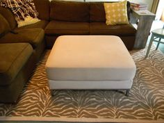 Simple Home Life: Fabric Rug: Tutorial. This one used painter's drop cloth as the backing