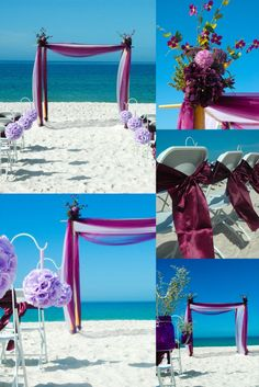 Some elegant beach decor options from floridaweddings.com