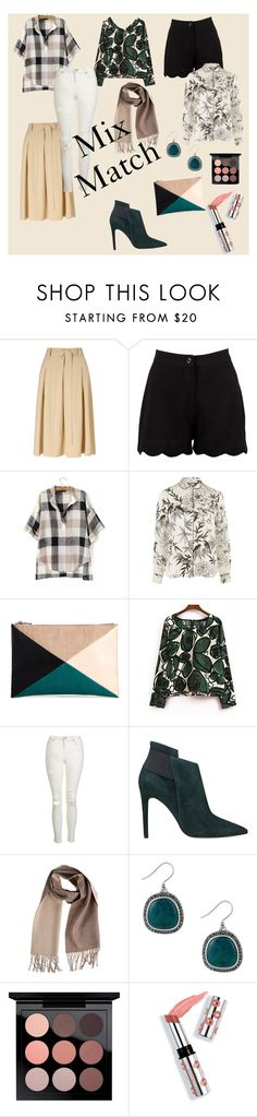"""Work ensembles- Mix & Match"" by inna-weinstein-zaretsky ❤ liked on Polyvore featuring Miss Selfridge, Boohoo, Glamorous, Sole Society, Topshop, GUESS, Overland Sheepskin Co., Lucky Brand, MAC Cosmetics and Ciaté"