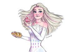 inspired from one of the scene in Red Shoes and The Seven Dwarfs #elsa #queenelsa #snowqueen #princess #fifthspirit #frozen #frozen2 Frozen Art, Elsa Frozen, Princess Illustration, Rise Of The Guardians, Seven Dwarfs, Queen Elsa, Drawing Clothes, Snow Queen, Jelsa