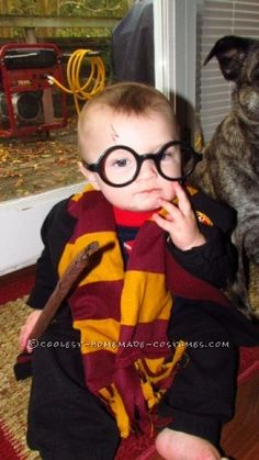 I knew I wanted to make my 8 month old baby boy Harry Potter this year. I didn't want to buy the costume-I wanted to make it more personal. It started...