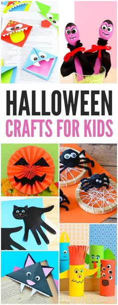 Fun Halloween Craft for Kids - many activity ideas for crafting at home or in the classroom (especially preschool and kindergarten) #halloweencraftsforkids