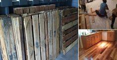 DIY Project: Pallet Wood Floor