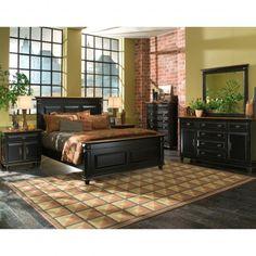 LARGO MADISON KING PANEL BEDROOM SET - BED, BEDROOM FURNITURE Gallery Furniture