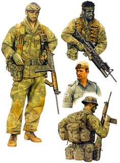 """Special Air Service: • Patrol member, 3 Sqn SASR, 1969 • Patrol member, 2 Sqn SASR, 1971 • Corporal, 2 Sqn SASR, 1971 • Patrol member, 2 Sqn SASR, 1971"", Kevin Lyles"