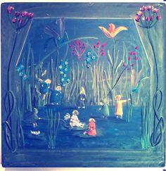 Bordtekening lente 1e klas, door Lieke Winterwerp