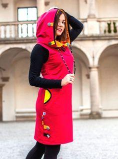Šaty / tunika - 100% bavlna / Zboží prodejce Jane Art | Fler.cz African Wear, Couture, Hoodies, Sewing, How To Wear, Fashion, Winter Dresses, Gowns, Tunic