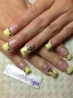 Nails Ideas Stiletto French Tips 61 Ideas For 2019 - You are in the right place about Nail sencillas Here we offer you the most beautiful pictures abou - French Acrylic Nails, French Nail Art, French Tip Nails, French Tips, Fingernail Designs, Nail Polish Designs, Nail Art Designs, Beautiful Nail Designs, Beautiful Nail Art