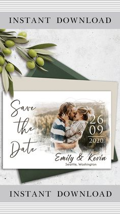 This personalized postcard has a beautiful minimalistic classic design and includes a PSD file to easily insert your photo and edit text. The reverse side of the postcard is clean. The template is intended for editing and further printing of this file at home, online printer, or local printing house…  #save_the_date_cards #templates_save_the_date #cards_for_wedding #save_the_date_cards_rustic #vintage_save_the_date_cards #modern_save_the_date_cards #handmade_save_the_date_cards Cheap Save The Dates, Funny Save The Dates, Save The Date Pictures, Save The Date Wording, Rustic Save The Dates, Save The Date Invitations, Wedding Invitations, Rustic Wedding Save The Date Ideas, Invites