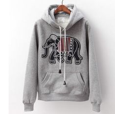 Things to wear! Dance Outfits, Cool Outfits, Casual Outfits, Cute Fashion, Teen Fashion, Fashion Outfits, Hooded Sweater, Sweater Jacket, Funny Elephant