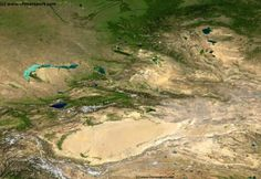 Satellite Map Xinjiang-Uighur