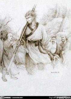 Journey To The West, Monkey King, Black Women Art, Hanuman, Dark Fantasy Art, Fantasy Characters, Disney Pixar, Female Art, Art Drawings