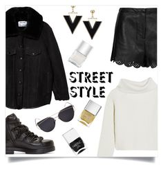 """""""NYFW: Street Style Day 1"""" by xniko ❤ liked on Polyvore featuring Acne Studios, Haider Ackermann, Topshop, 3.1 Phillip Lim and Nails Inc."""
