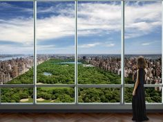 $90mm buys this VIEW -- 2 penthouse apartments at One57 each sold for a staggering $90 million back in 2012. The views should be spectacular.