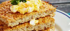 Ryynirieska ja munavoi   Suolaiset leivonnaiset   Reseptit – K-Ruoka Krispie Treats, Rice Krispies, Cornbread, Bread Recipes, Banana Bread, Sandwiches, Yummy Food, Baking, Ethnic Recipes