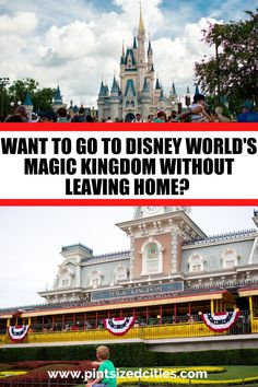 You can bring the magic of Disney to you and visit Disney World without leaving home with this virtual tour of the Magic Kingdom! Disney Day, Disney Home, Virtual Travel, Virtual Tour, Disney World Magic Kingdom, Walt Disney World, Disney Vacations, Disney Trips, Virtual Field Trips