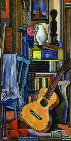 Jean Negulesco - Guitar and White Vase (1929)