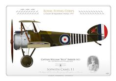 """Royal Flying Corps (WW1)C Flight 28 Squadron. France, 1917Captain William """"Billy"""" Barker (vc)1894 - 1930. Credited with 41 victories (RCAF)"""