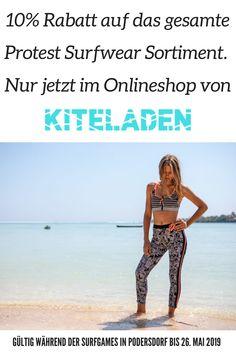Protest Surfwear & Beachwear Kollektion im Online-Shop kaufen Surf Wear, Beach Wear, Im Online, Cooler Look, Bikinis, Swimwear, Mai, Strand, Shirts