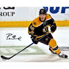 "David Pastrnak Boston Bruins Fanatics Authentic Autographed 8"" x 10"" Black Jersey Skating Photograph - $59.99"
