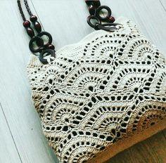 Knitted Bags, Chanel Boy Bag, Knitting Patterns, Pendant Necklace, Shoulder Bag, Photo And Video, Handmade, Vintage, Instagram