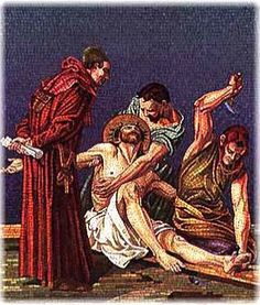 The Eleventh Station:  Jesus is Nailed to the Cross..............